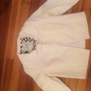 Milly Cream Tweed Swing Jacket - Size 4